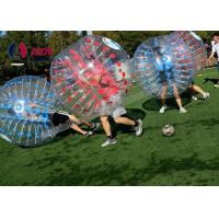 Free Blower Bubble Ball Inflatable Bumper Air Soccer Ball Blue Red Manufactures