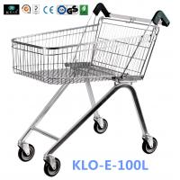Zinc Plated Low Carbon Steel UK Shopping Cart 100L European Style Manufactures