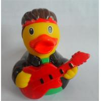 Guitar Player Character Rubber Duck Bath Toys , Rubber Duckies That Float Upright Manufactures