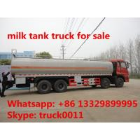 factory sale dongfeng tianlong 6*4 30cbm liquid food tank truck for sale, stainless steel tank for liquid food for sale Manufactures