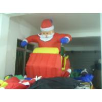 Red Advertising Inflatable Santa Clause For Christmas Celebration Manufactures