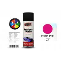 Car Wheel Removable Rubber Spray Paint With Head Light Rose Red Color Manufactures