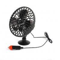 DC 12V Oscillating Car Cooling Fan With On / Off Switch Suction Cup Mounting Manufactures