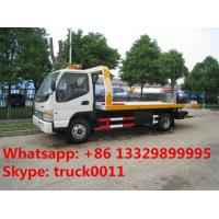 Quality China famous JAC brand flatbed towing vehicle for sale, JAC brand 4*2 LHD car towing services platform wrecker vehicle for sale