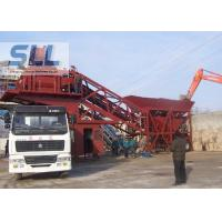 AC380v / 50hz Mobile Concrete Batching Plant Easy Installation / Remove  Manufactures