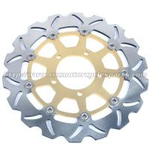 300mm Motorcycle Brake Disc Rotors For Street Bike ER6N VERSYS 650 Black Gold Aluminium Manufactures