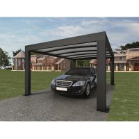 Anthracite Garden Shade Netting / Carport Cubus Single Genua Induction Garage Manufactures