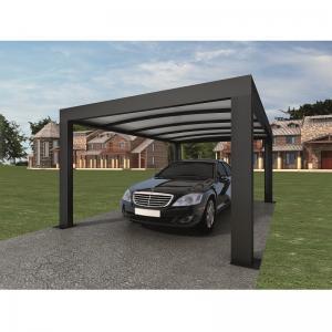Anthracite Garden Shade Netting / Carport Cubus Single Genua Induction Garage