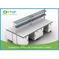 All Steel C Frame Science Lab Tables For Schools , Physics Lab Furniture 3000 X1500 mm Manufactures