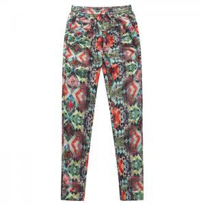 Fashion girls elastic waist pants European style drawstring pants Manufactures