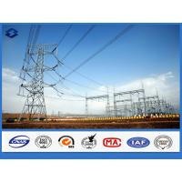 Buy cheap Galvanized Framework Electric Substation Structure Components Steel Pole from wholesalers