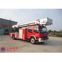 Quality Stainless Steel Fire Pump Aerial Platform Fire Truck , Wheel Base 5550mm Aerial Ladder Truck for sale