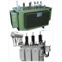 China Low Noise Oil Immersed Transformer 6.6 KV - 30 KVA Compact Size ONAN / ONAF on sale