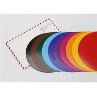 Lick - To - Stick Colored Paper Circles , Glossy Construction Paper Circles Manufactures