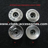 Anti - Silver Zink Alloy Custom Clothing Buttons Nickle Free for Denim Jeans Manufactures