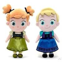Small Girls Disney Plush Toys Elsa And Anna Frozen Baby Dolls 30cm Manufactures