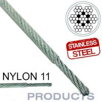 Clear Coated Nylon 11 Stainless Steel Metal Wire Rope 7x7 For Sailboat Lifeline Manufactures