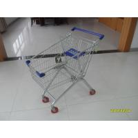 Quality Q195 Low Carbon Steel 100L European Shopping Carts Four Wheel Shopping Trolley for sale