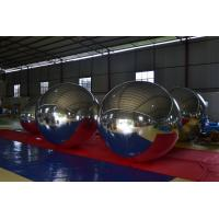 Durable Inflatable Advertising Balloons , Outdoor Decorative Mirror Reflective Snow Ball Manufactures