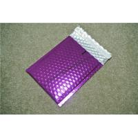 China Antistatic Metallic Pink Bubble Mailers , Bubble Wrap Bags 135x210 #-AC on sale