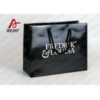Quality Black Glossy Lamination Custom Printed Retail Bags , Modern Kraft Paper Shopping Bags for sale