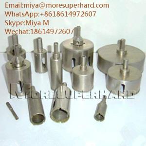 Electroplated Diamond Core Drill Bits for glass, crystal, fiberglass miya@moresuperhard.com Manufactures