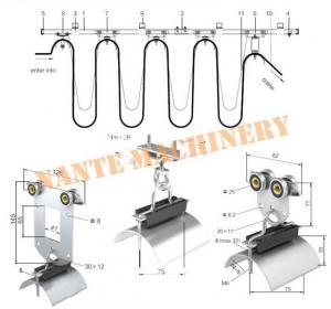 Overhead Crane Cable Roller C Track Festoon System , Hoist Festoon Systems Manufactures