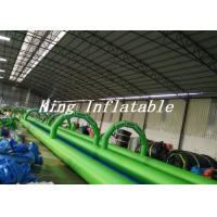 100m Long Double Lane Inflatable Slip N Slide Green Blue With Logo Printing Manufactures