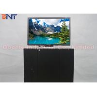 19 Inch Conference Room Tabletop LCD Monitor Screen Motorized Pop Up Lift 110V ~ 240V Manufactures