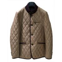 Quality Brown Short Winter Warm Mens Coats Jackets and tops With Diamond Quilting for sale