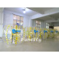 Blue Pvc / Tpu Inflatable Bumper Ball For Kids And Adult 1.0mm Thickness Manufactures