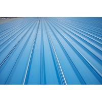 Erosion Proof Corrugated Galvanized Steel Roofing Sheets Of Inter - Lock Type Manufactures