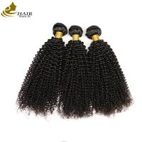 100% Unprocessed Kinky Curl Malaysian Virgin Hair Extensions Natural Black Manufactures