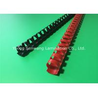 Quality Black / Red Plastic Binding Combs 20mm Punched Into Papers Rectangular Holes for sale