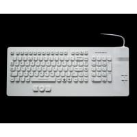 China USB white IP68 medical silicone keyboard with built-in mouse for medical computer cart on sale