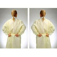 Fluid Resistant Medical Isolation Gowns , Multi Ply Non Woven Surgical Gown Manufactures