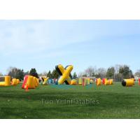 Cold Resistant Inflatable Speedball Bunkers Outdoor With 680W Air Pump Manufactures