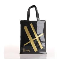 Customized Sewing Black PVC Handbags , Plastic PVC Promotional Bags Manufactures
