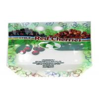 Ziplock Fresh Fruit Packaging Bag Stand Up Custom Printed With Euro Hole / Zipper Manufactures