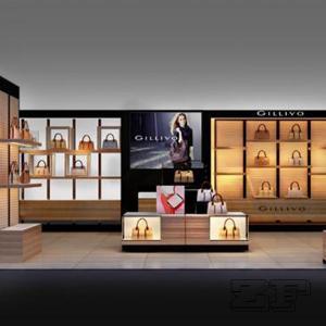 Handbag shelf and cabinet for bags shop interior design Manufactures