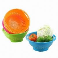 Plastic Basket, FDA Certified, Made of PP, Customized Designs and Colors are Accepted Manufactures