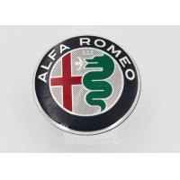Automotive Plastic Molding 3D Plastic Car Logo / Emblem / ABS Chrome Car Badge With Brand Alfa Romeo Manufactures