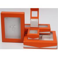 Kraft Paper Jewelry Box Screen Printing Logo With Lids Environmentally Friendly Manufactures