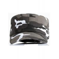 China Camouflage Fabric Cool Flat Peak Caps Brim Curve Adjustable Size Personalized on sale