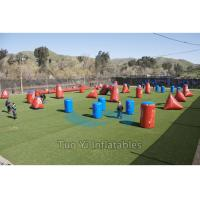 Obstacle Airsoft Speedball Inflatable Bunkers For Paintball Shooting Sports Manufactures
