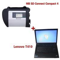 2018.5V Wireless MB SD C4 Mercedes Diagnostic Tool With I5 CPU 4G RAM Lenovo T410 Manufactures