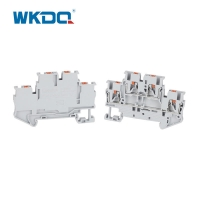 Push In Connection Feed Through Din Rail Mount Terminal Block IEC 60947-7-1 Standard Manufactures