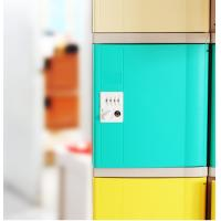 Keyless ABS Plastic Lockers Green Door 4 Comparts 1 Column For Students Manufactures