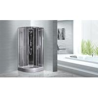 Quadrant Shower Cubicles 900 X 900 X 2100 MM Circle Grey ABS Tray Chrome Profiles Manufactures