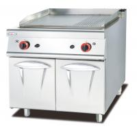 Western Kitchen Equipment Gas Griddle With Cabinet 1/3 Grooved 800*900*940mm Manufactures